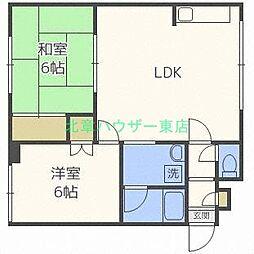 北海道札幌市東区北三十五条東5丁目の賃貸アパートの間取り