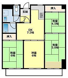 愛知県豊田市山之手6丁目の賃貸マンションの間取り