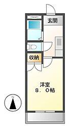 エルメゾン東海通[2階]の間取り