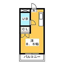 シャトル箱崎[2階]の間取り