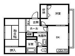 滋賀県彦根市松原町の賃貸アパートの間取り