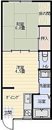 中坊文化[2階]の間取り