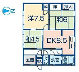 [一戸建] 兵庫県姫路市飾磨区今在家 の賃貸【兵庫県 / 姫路市】の間取り