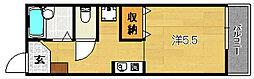 大阪府茨木市春日1丁目の賃貸アパートの間取り