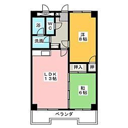 オーキッドマンション内幸[2階]の間取り