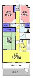 ライオンズマンション西八千代[112号室]の間取り