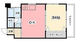 ヴォーン夙川[302号室]の間取り