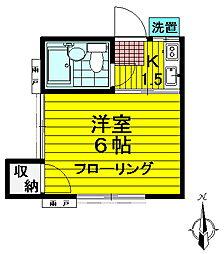 ふじコーポ散田[201号室号室]の間取り