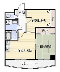 クラブハウス熊本[402号室]の間取り