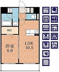 Jowa天王寺[5階]の間取り