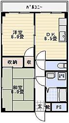 メゾンコム[302号室]の間取り