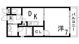 ツインズ八幡[2階]の間取り