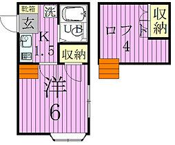 コスモ六実東[203号室]の間取り
