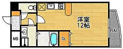 大阪府大阪市東淀川区豊里2丁目の賃貸マンションの間取り