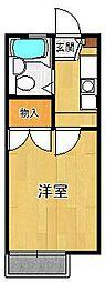 レオパレスミツマツ1[205号室]の間取り