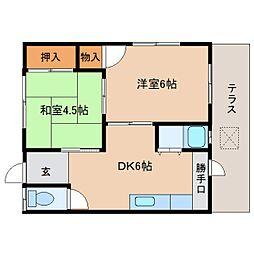 静岡県静岡市清水区辻の賃貸マンションの間取り