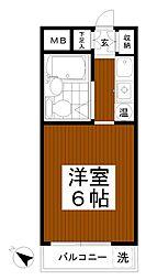 ベルエポック松木[4階]の間取り