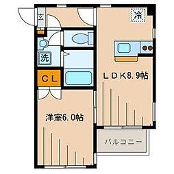 東京都墨田区立川2丁目の賃貸マンションの間取り