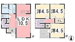 [一戸建] 兵庫県姫路市青山3丁目 の賃貸【兵庫県 / 姫路市】の間取り