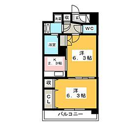 レジデンス18[6階]の間取り