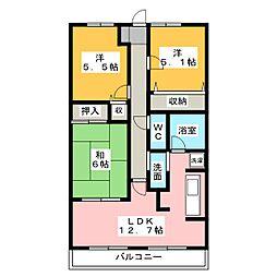 スカール富田公園[2階]の間取り