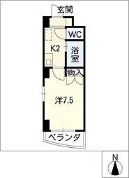 ハイツ・サンルート[3階]の間取り