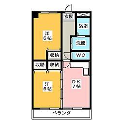 岡部ビル[4階]の間取り