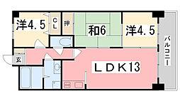 グローバル姫路南II[102号室]の間取り