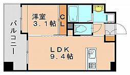 福岡県福岡市博多区銀天町3の賃貸マンションの間取り