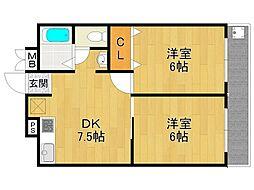 橋本ビルディング[4階]の間取り