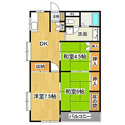 東真鍋アイビーマンション[3階]の間取り