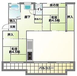 神奈川県川崎市多摩区三田4丁目の賃貸マンションの間取り