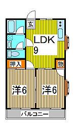 埼玉県さいたま市南区文蔵1丁目の賃貸マンションの間取り