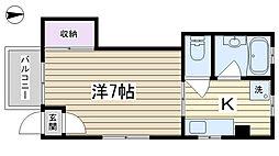東京都北区上中里1丁目の賃貸マンションの間取り