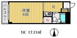 ミナーレ三宮東[3階]の間取り
