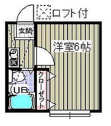 ローズアパートR56番館[1階]の間取り