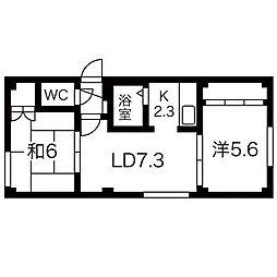 ルーブル壱番館[3階]の間取り