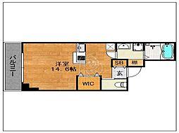 ラクレイス西新レジデンシャルタワー[1208号室]の間取り