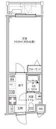 LUMEED飯田橋 5階1Kの間取り