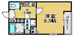 Kiyo maison 綾園[2階]の間取り