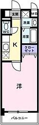 広島高速交通アストラムライン 安東駅 徒歩7分の賃貸マンション 4階1Kの間取り