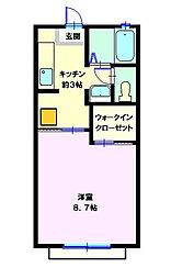 マイキャッスル海道内[102号室]の間取り