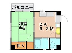 荒牧ビル[5階]の間取り