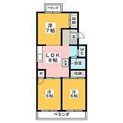 菊池コーポ[1階]の間取り
