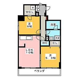 レジェンドK[2階]の間取り