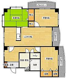 Village毘沙門[401号室]の間取り