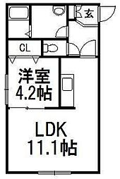 北海道札幌市白石区東札幌四条1の賃貸マンションの間取り