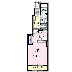 first one B[103号室]の間取り