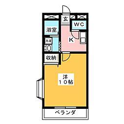 FEIN 河八[3階]の間取り