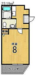kanon西院[2階]の間取り